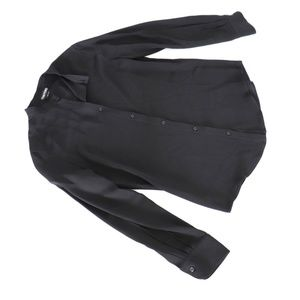 Tom Ford black silk button down blouse
